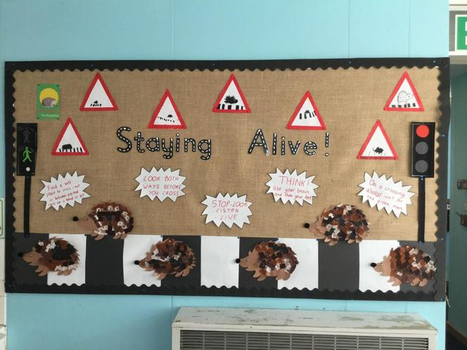 Fantastic road safety display by children!