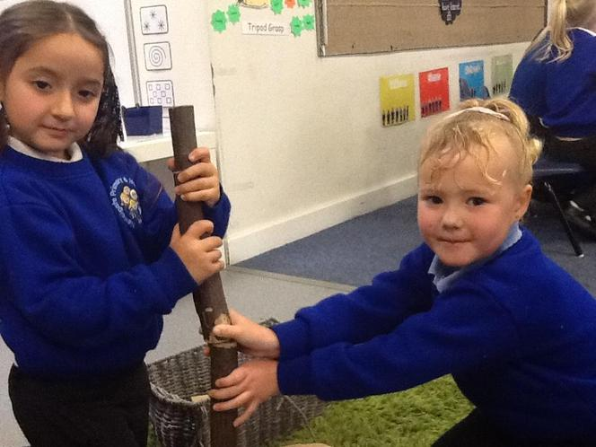 Building a tower in the Construction Area!