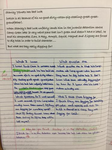 Making predictions about the text