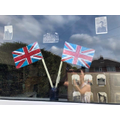 VE Day window display