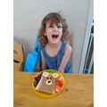 Loving my teddy toast!