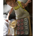 Enjoying making cakes