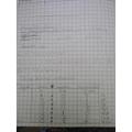 Eleanor's maths work, excellent!