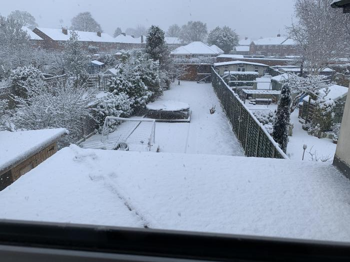 The view from Mrs Johnson's window.