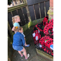 Visiting the war memorial at St Johns Church