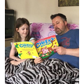 Sharing a book with Dad!