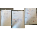 A collection of Lily's superb maths work! Wow!