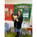 Mrs Mayers was hiding behind the Owl mask.