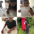 writing a letter and posting it!