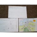 Nathaniel can show the difference between a map and a picture.