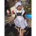 Dressed up as Florence Nightingale!