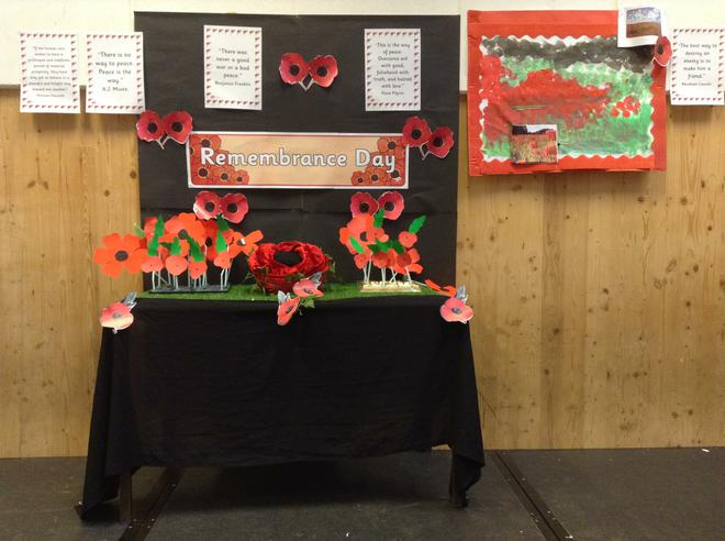 Rememberance Display by Year 1