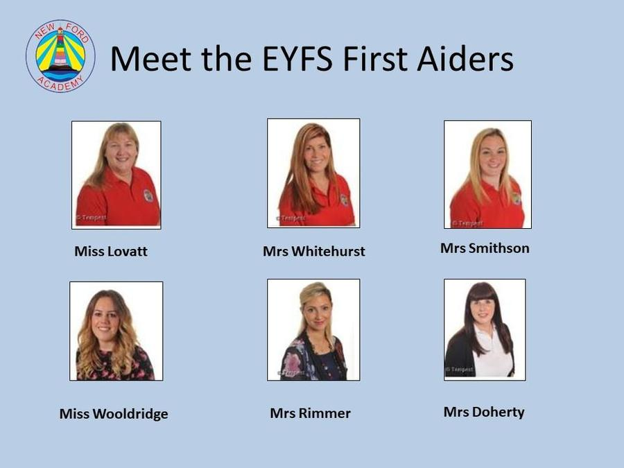 EYFS First Aiders