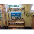 Our nursery writing area