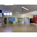 This our hall, used for assemblies, PE and lunch.