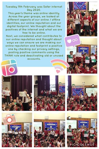Our e-safety assembly showcasing our learning