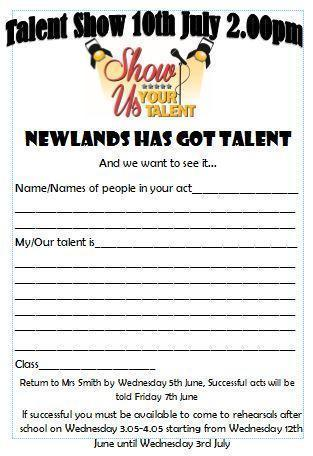 Talent show application form