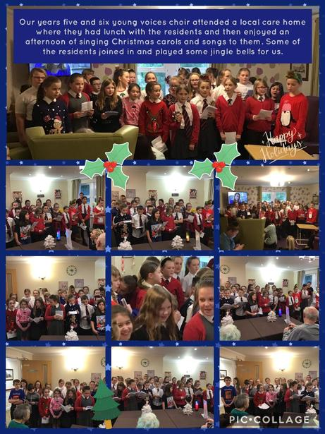 Singing at the care home at Christmas