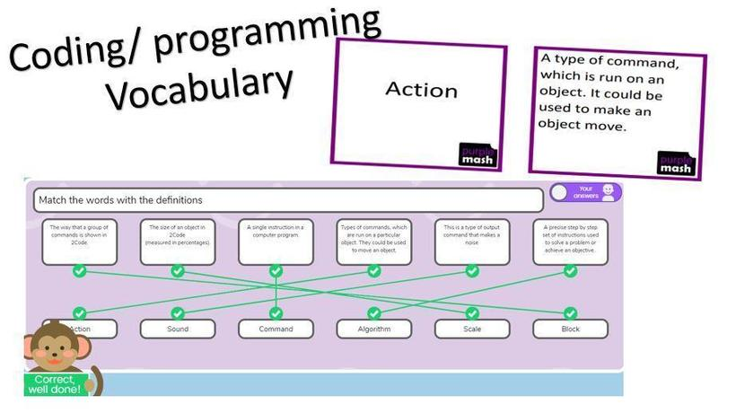Programming vocabulary - Year 5