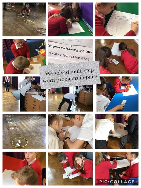 Maths problem solving relay game