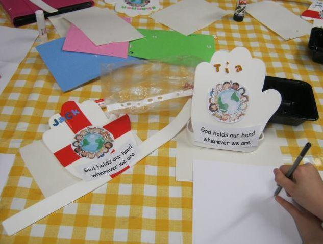 Craft making at Methodist Club