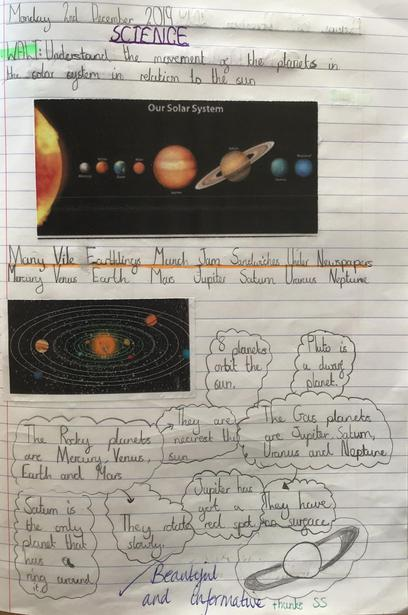 Solar System Facts Year 5