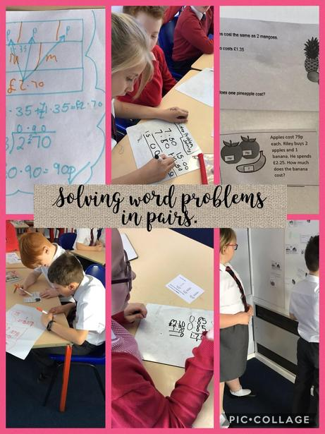 Maths - Problem solving in pairs