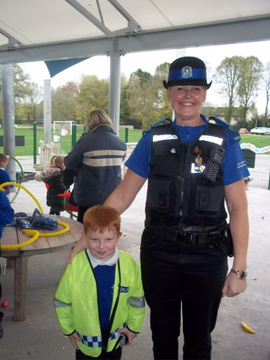 We enjoyed meeting our local PCSO