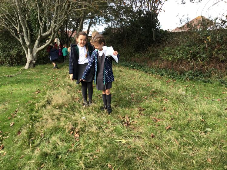 We had to make a key to show where the long grass is.