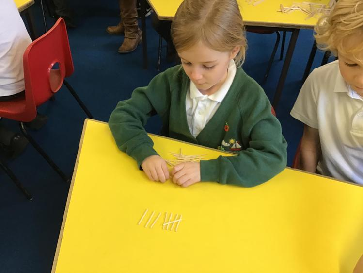 Learning what the tally marks mean.