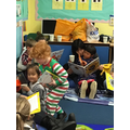 The children loved sharing their books with family