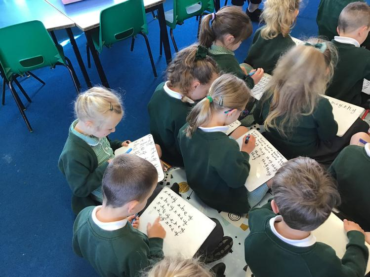 Practising our tricky words