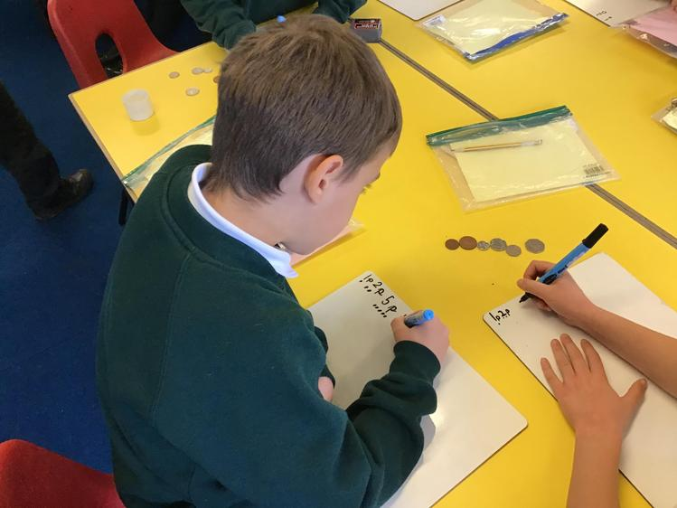We identified how much each coin was worth