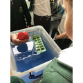 We did an experiment to see how the Titanic sank