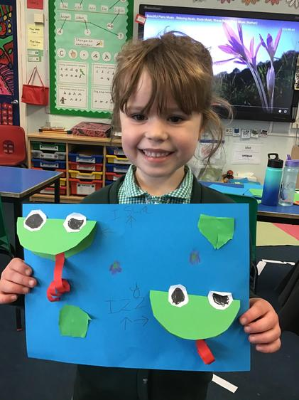 We made our own frog ponds