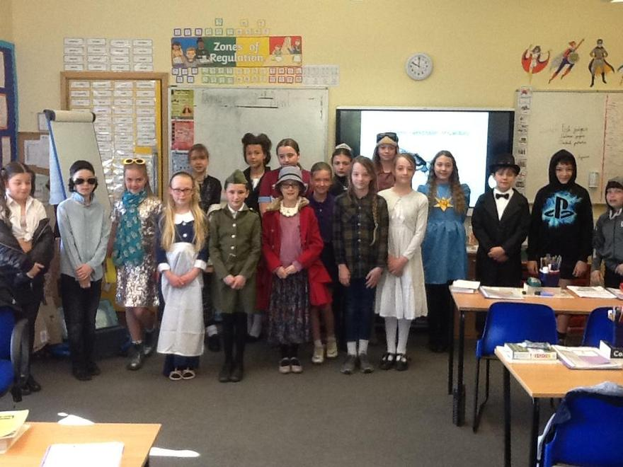 Many of Falcon Class chose to dress up as significant individuals from 1900-200.