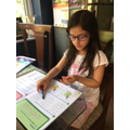 Sophia working hard!