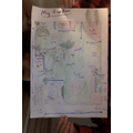 Maya's map of her garden