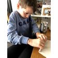 Haden Making His Bee House