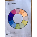 Sara's colour wheel