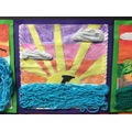 Landscapes inspired by knitting!