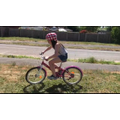 Grace learnt to ride her bike