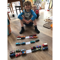 Olly halving groups of cars.