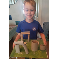 James' Stonehenge model