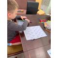 Bogdan doing his maths.