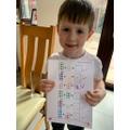 William enjoyed his maths work.