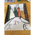 Mahala's painting based on Lowry - superb!