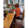 Isaac's pasta arrays!