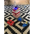 Forest's Lego lighthouse with a working light!