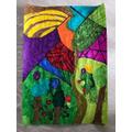 Jacob's David Hockney-Inspired ArtWork